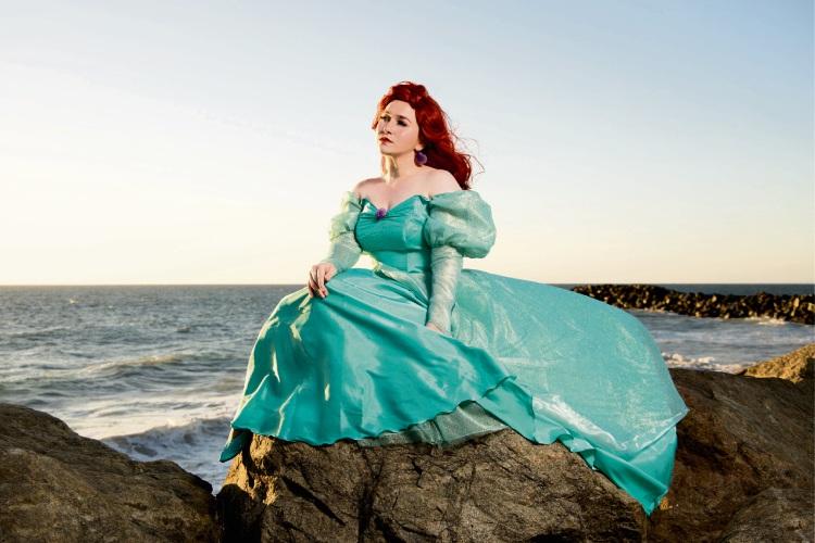 The Little Mermaid fan Kirilee Lennerts as Ariel. Picture: Matthew Lister