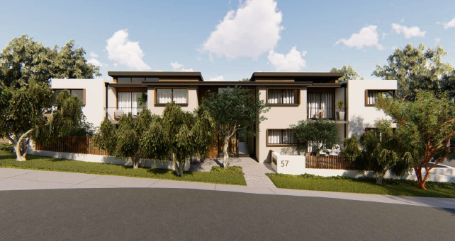 An artist impression of the proposed over-55s development at 57 Marri Road, Duncraig.