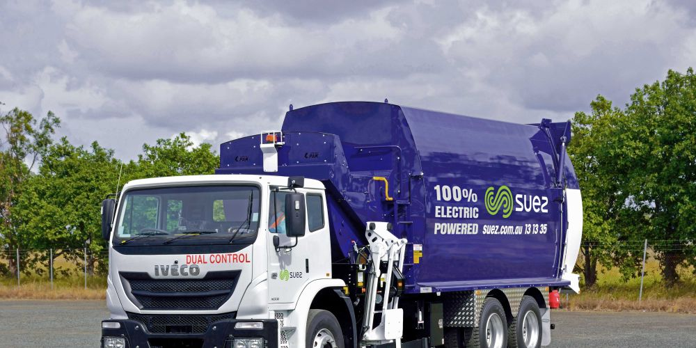 Perth's first fully electric recycling truck.  will be based in the City of Belmont.