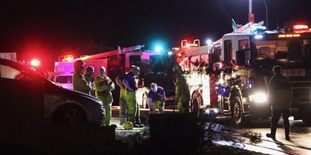 Fire and emergency services at a house fire in Shala Way, Success. Picture: Anton La Macchia