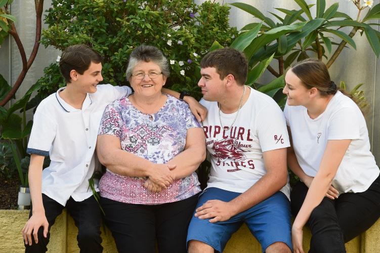 L to R - Joseph Knuckey, Kathy Knuckey, Harley Knuckey & Teneka Knuckey Picture: Jon Hewson www.communitypix.com.au   d492443