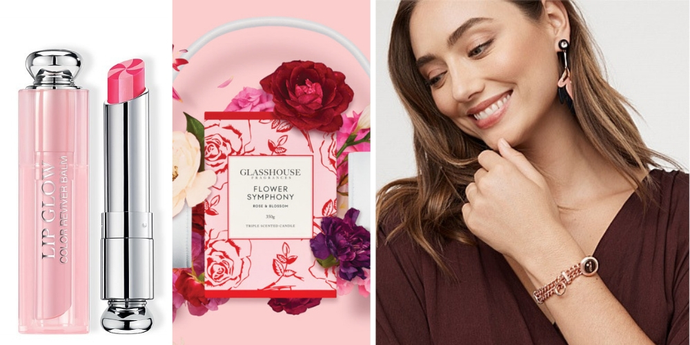 From left: Dior, Glasshouse Fragrances and Mimco have offerings to spoil mum this Mother's Day.