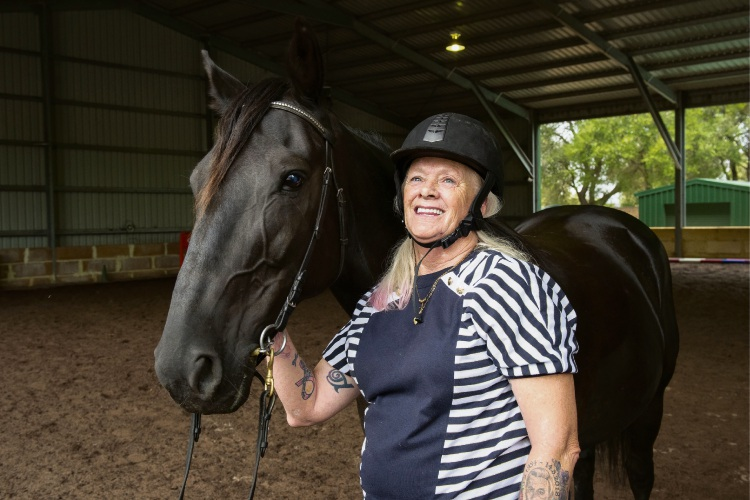 Forrestfield resident saddled up for therapy after stroke