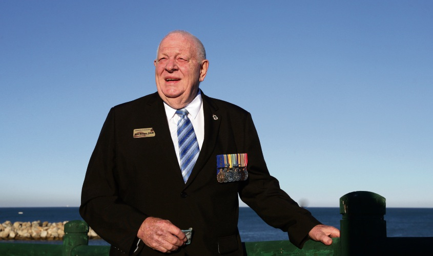 Ken Beven at Joondalup City RSL's Ocean Reef base. Picture: Martin Kennealey d492690