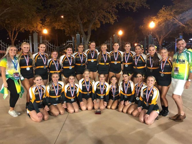 Rockingham cheerleaders win silver at ICU World Championships