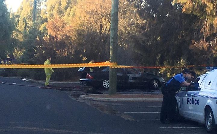 Body found in burnt out car next to oval