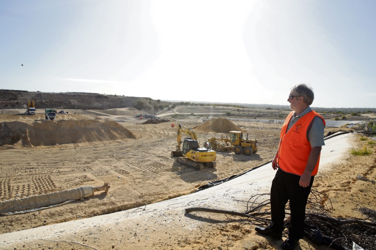 Mindarie Regional Council education manager Geoff Atkinson at the Tamala Park landfill, which visitors can tour on the May 4 open day. Picture: Martin Kennealey www.communitypix.com.au d492560