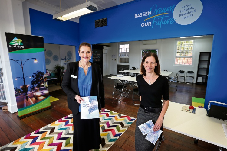 L-R: Peta Mabbs (CEO, Town of Bassendean) and Cr Renee McLennan (Mayor, Town of Bassendean) at the new BassenDream Our Future hub.  The Town of Bassendean has launched its first ideas hub, BassenDream Our Future at the former post office in Old Perth Road. Picture: David Baylis www.communitypix.com.au   d492536