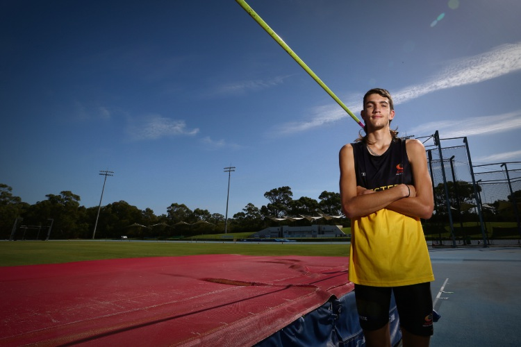 Ellenbrook athlete Jordan Wight (16) will be competing in the under-18s men''s high jump at the upcoming 2019 Oceania Area Championships. Picture: Andrew Ritchie www.communitypix.com.au d492537