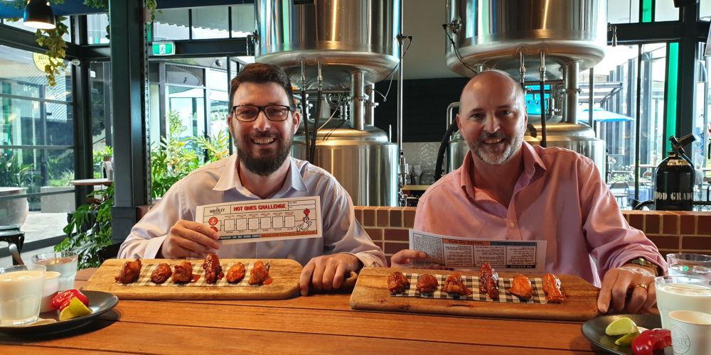 Can Editor Matt Zis and Editorial Director Ken Burrowes conquer a hot wing challenge?