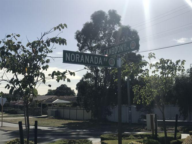 The 'Noranada' sign in Morley. Picture: Kristie Lim.