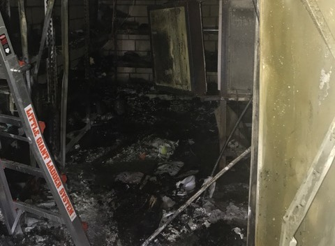 The fire damage at South Thornlie Primary School.