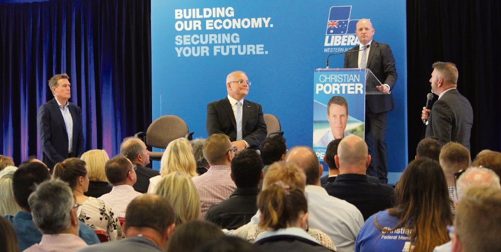 Prime Minister Scott Morrison at a housing forum in Butler in the lead up to the Federal Election.