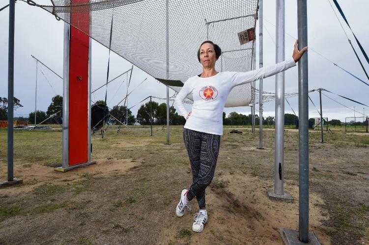 d492748 Flying Trapeze Perth owner Nikki Gheysen. Picture: Jon Hewson