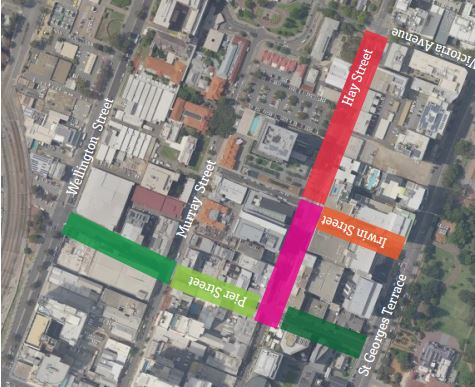 The speed limit on Hay Street between Pier and Irwin streets will be reduced to 20km/h