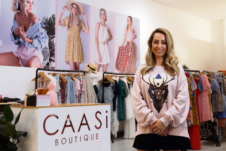 Carly Cahill at Caasi Boutique. Picture: Martin Kennealey www.communitypix.com.au d491631