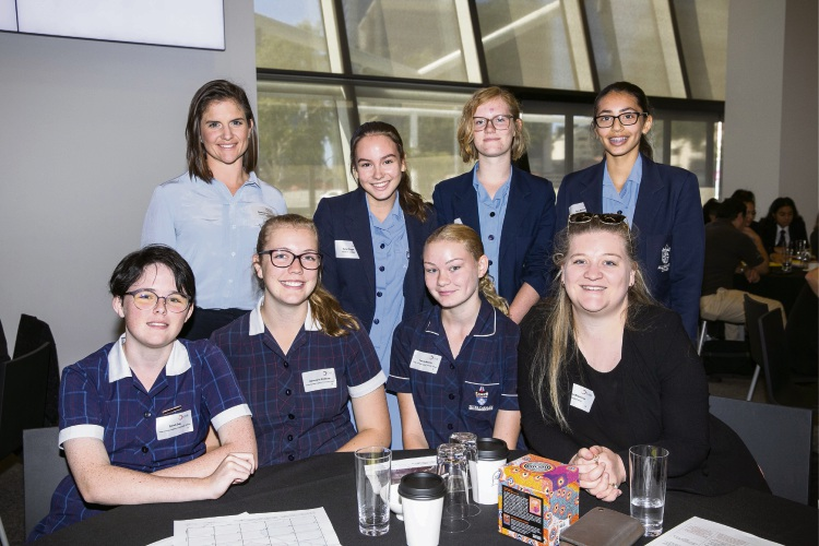 Students and staff from Peter Carnley Anglican Community School at the career event.