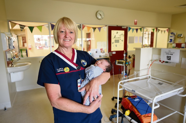 Rockingham General Hospital midwife Clare Reynolds.