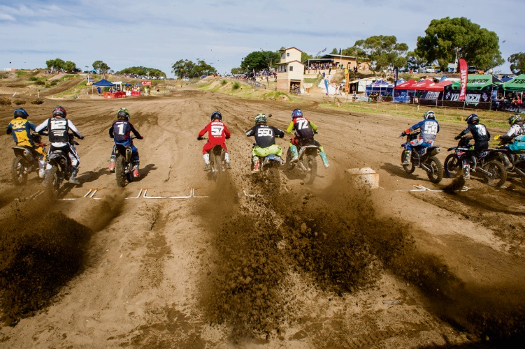 Competitors in the State Motocross Championship at Coastal Motorcycle Club. Photo: True Spirit Photos.