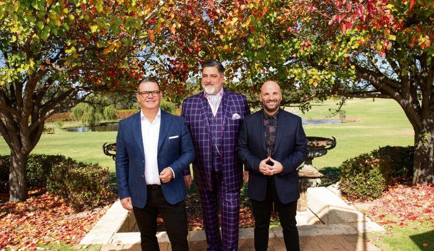 Masterchef judges Gary Mehigan, Matt Preston and George Calombaris in the Swan Valley