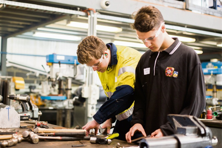 Year 10 students can attend a free trial to have a go at various trades.