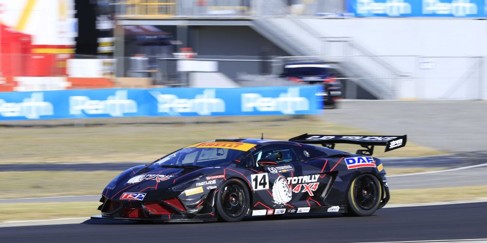 Peter Major sets a quick time in Australian GT practice. Picture: Barnsiesphotos