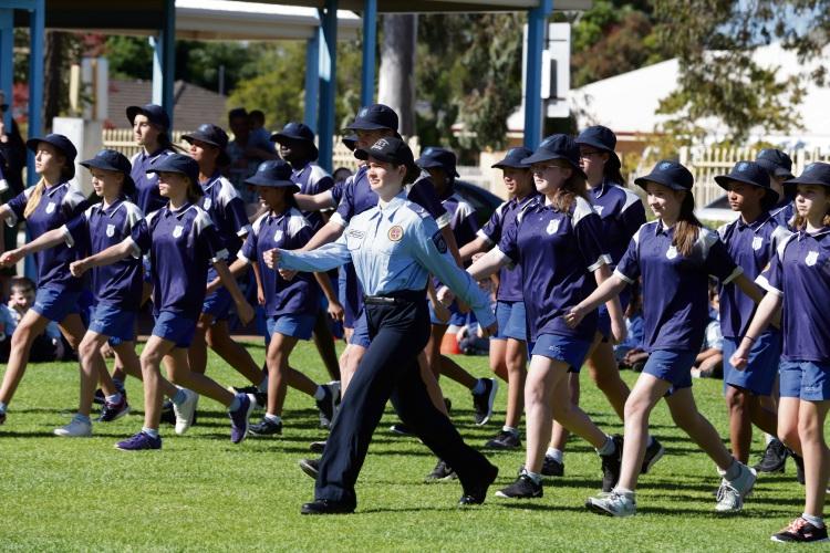 Emmanuel Christian Community School SES Cadets. Pictures: Martin Kennealey www.communitypix.com.au d492865