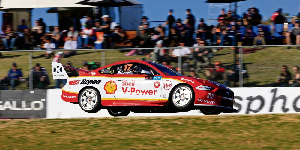 Scott McLaughlin pushing hard. Picture: Barnsiesphotos