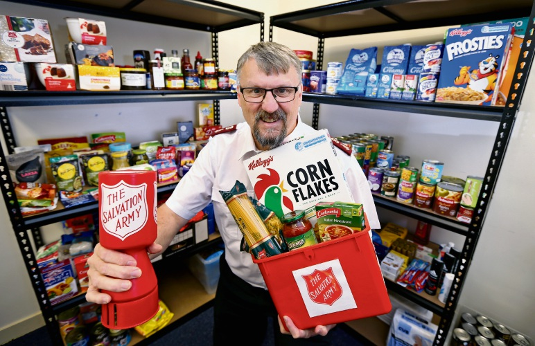 Major Warren Elliott (Corps Officer, The Salvation Army, Morley) getting ready for the 2019 Salvos Appeal. Picture: David Baylis www.communitypix.com.au d492841