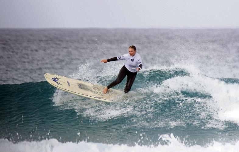 Falcon surfer Zali Corry. Picture: Surfing WA/Woolacott