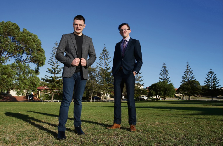 Brandon Secomb and Adam Inder from Temper Consulting. Picture: Martin Kennealey www.communitypix.com.au d492316