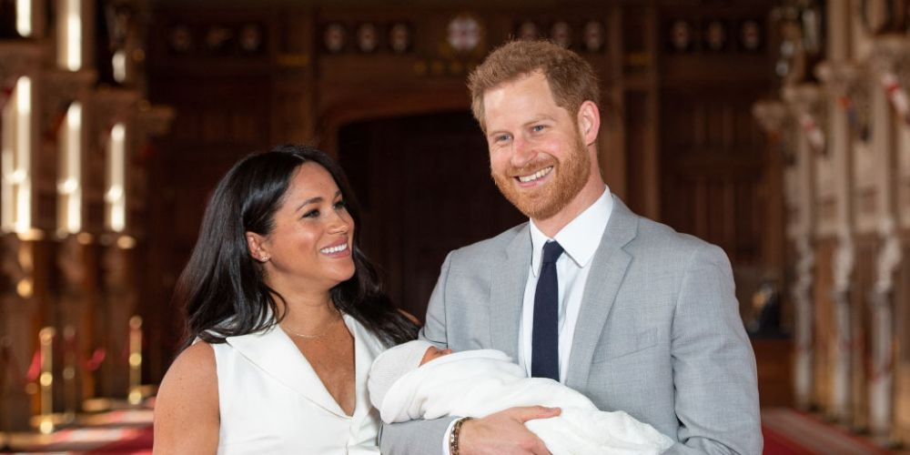 Prince Harry, Duke of Sussex and Meghan, Duchess of Sussex, pose with their newborn son Archie Harrison Mountbatten-Windsor during a photocall at Windsor Castle. Picture: Dominic Lipinski - WPA Pool/Getty Images