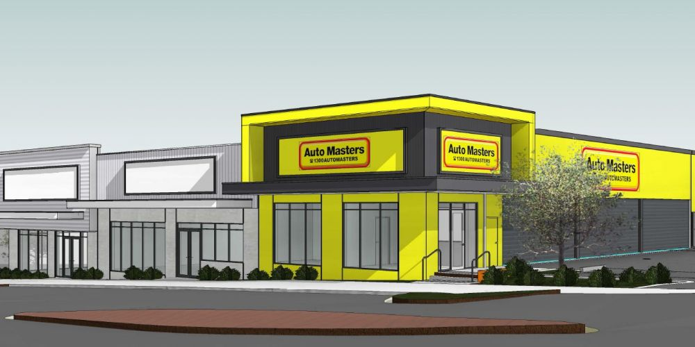 An artist's impression of the Auto Masters proposed for Ashby.