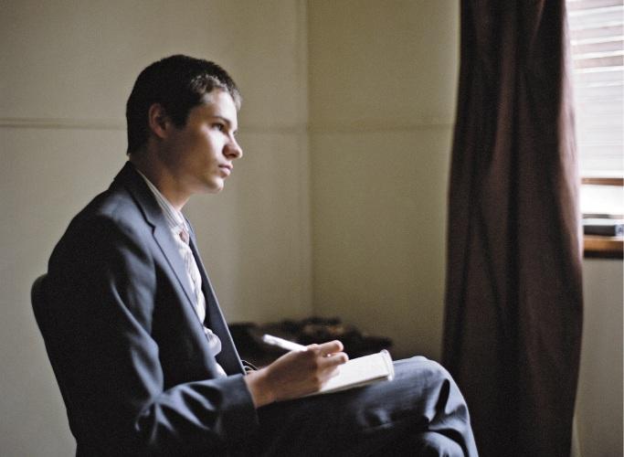 Toby Wallace as Erik Jensen in Acute Misfortune.
