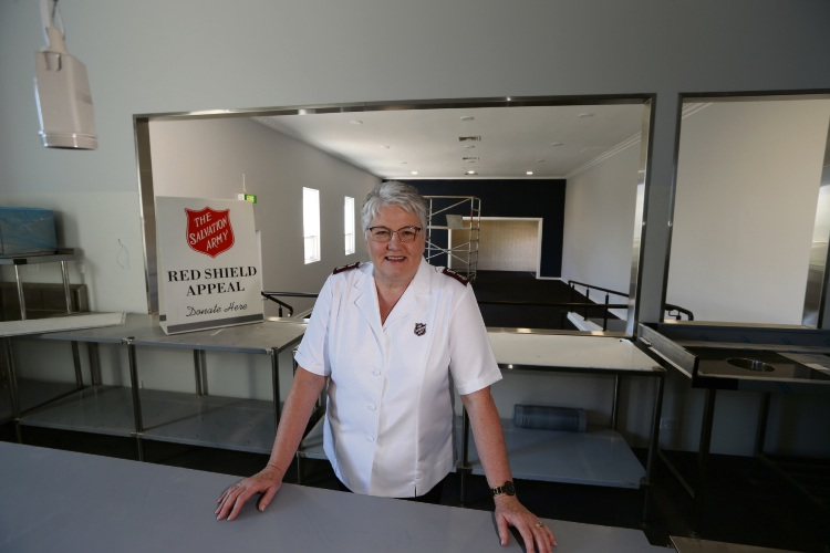 The Salvation Army Major Lyn Jones at the soon to be open Salvation Army community centre in Subiaco. Picture: Andrew Ritchie www.communitypix.com.au   d492928a
