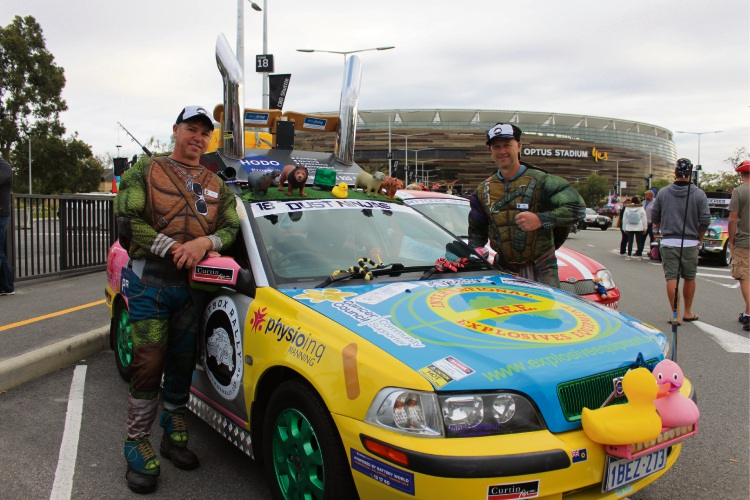 Kensington resident David McMullen and South Perth resident Ian Dober are doing their first rally together as good mates for team Dust Ninjas. Picture: Nadia Budihardjo