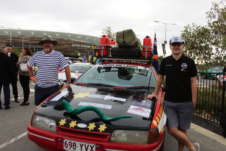 10th S***box Rally for Cancer Council starts at Optus Stadium