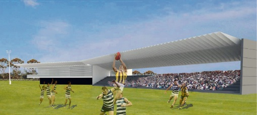 An artist impression of an AFL oval at the proposed Whiteman Regional Open Space.