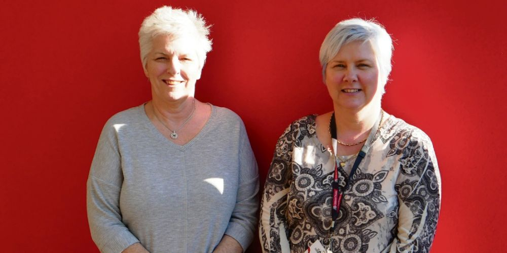 Silver Chain customer service administrator Kayleen Head and volunteer services team leader Claire Lawrie.