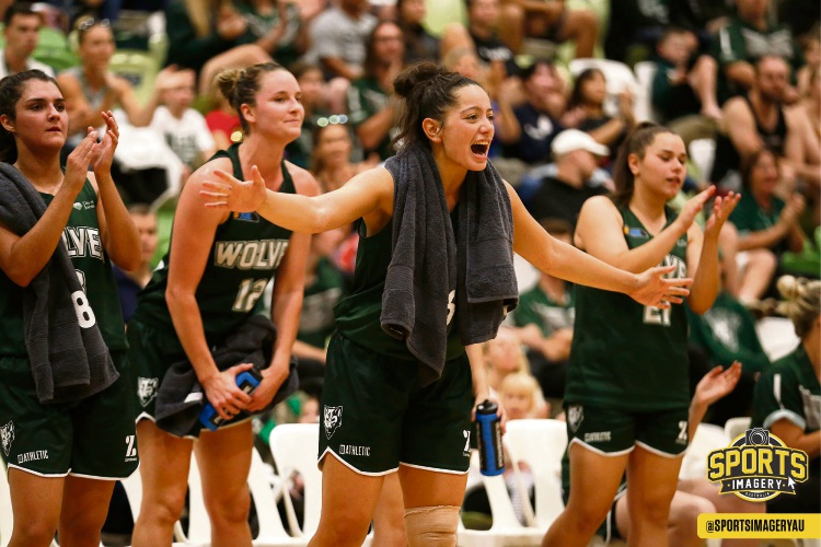 Mikayla Pirini gives it all on and off the court for the Wolves. Picture: Michael Farnell