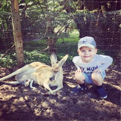 Jax with a kangaroo