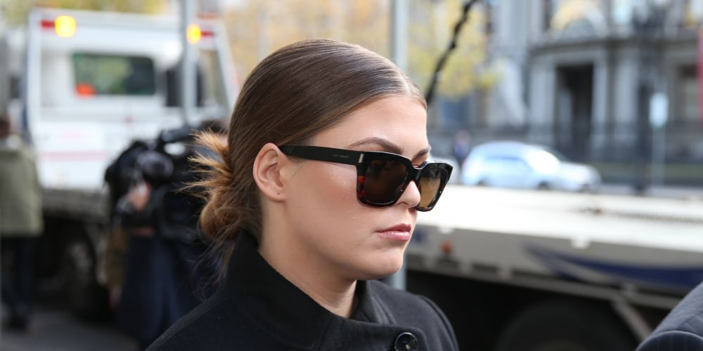 Belle Gibson arrives at court. Picture: AAP