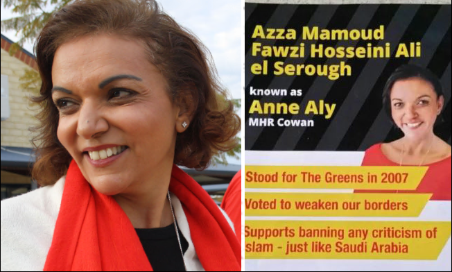 A racist flyer about Anne Aly has been circulated in Cowan.