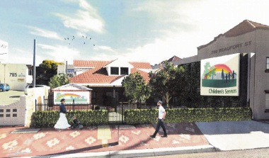 Artist impression of the proposed Mt Lawley childcare centre.