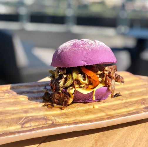 Optus Stadium celebrating Perth Glory final with bizarre burger
