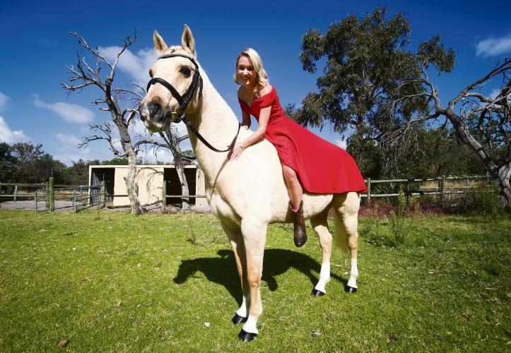 Cassandra Domjahn with horse Bailey. Pictures: Matt Jelonek