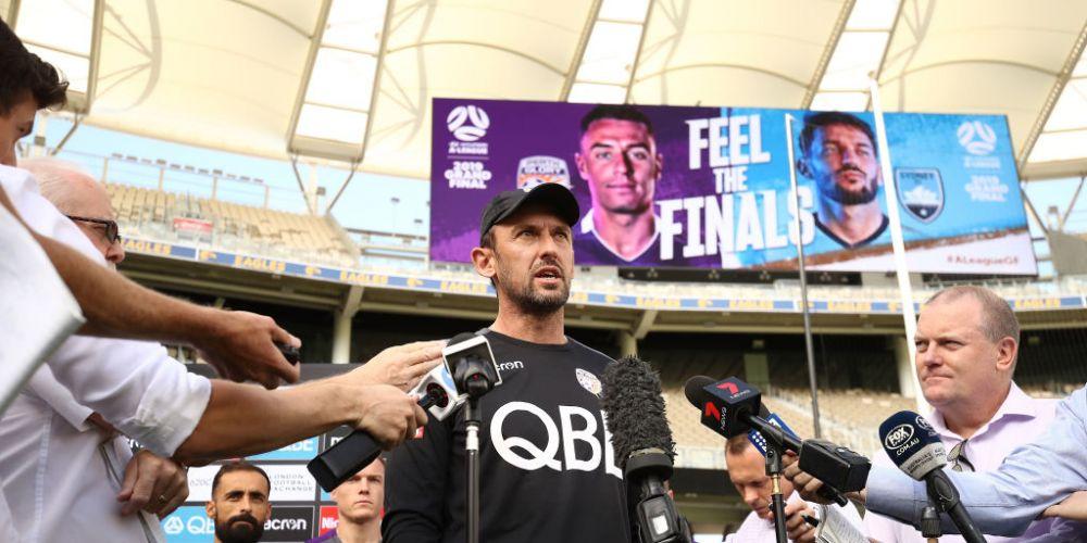 Perth Glory coach Tony Popovic at Optus Stadium yesterday. Photo: Getty