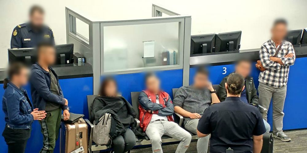 Most of the Malaysian group refused entry to Australia. Picture: Supplied