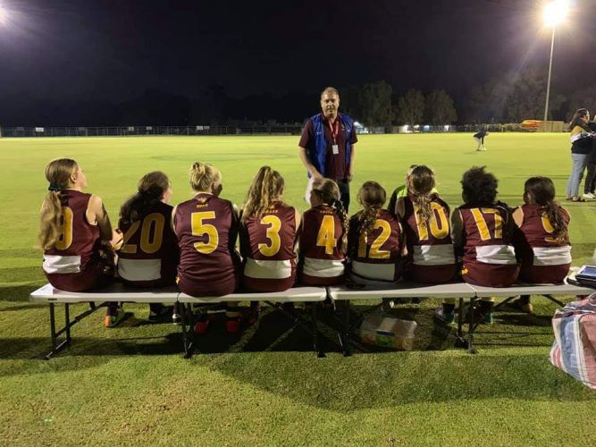 Quinns Districts Junior Football Club started holding girls matches on Friday nights following floodlight upgrades this season.