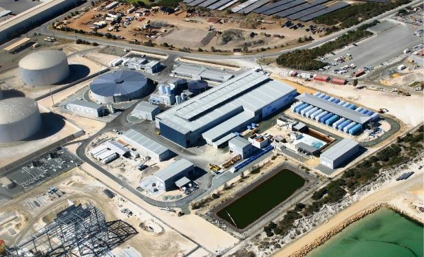 The existing Perth Seawater Desalination Plant in Kwinana.